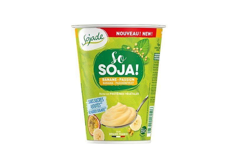 Plátano maracuyá sin azúcar añadido 400g de Sojade