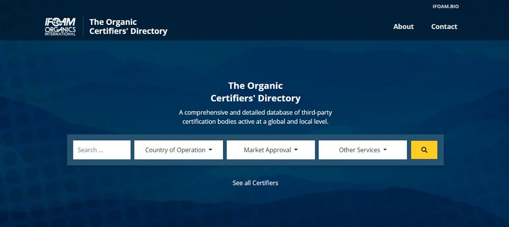 The Directory of Organic Certifiers is Live