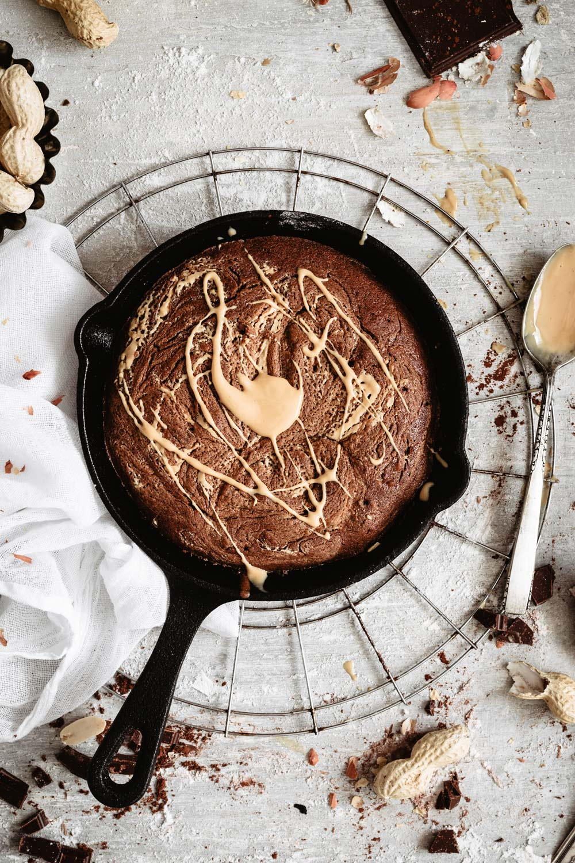 Reeceta: brownie con mantequilla de cacahuete