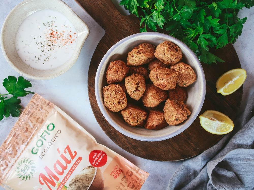 Receta: buñuelos veganos de soja y gofio