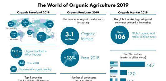 agricultura ecológica datos mundo