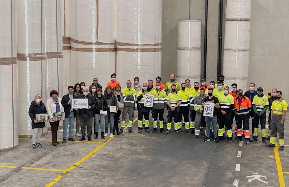 """LC Paper esdevé la primera indústria paperera de la UE en obtenir la distinció """"B Corp"""