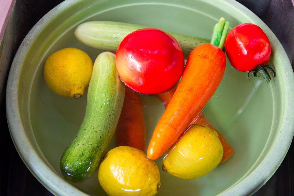 Neteja i desinfecció de les verdures, hortalisses i fruites