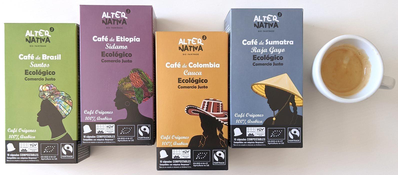 Nuevas cápsulas compostables, de AlterNativa3