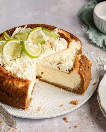 pastís de formatge de xocolata blanca i llima