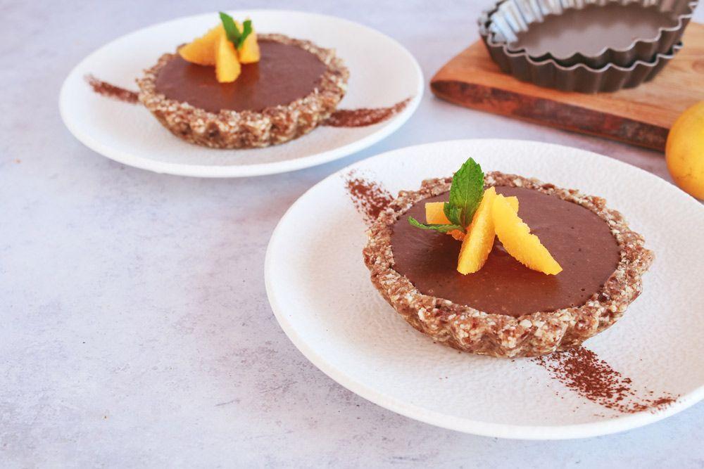 Receta: tartaletas de chocolate y naranja sin horno