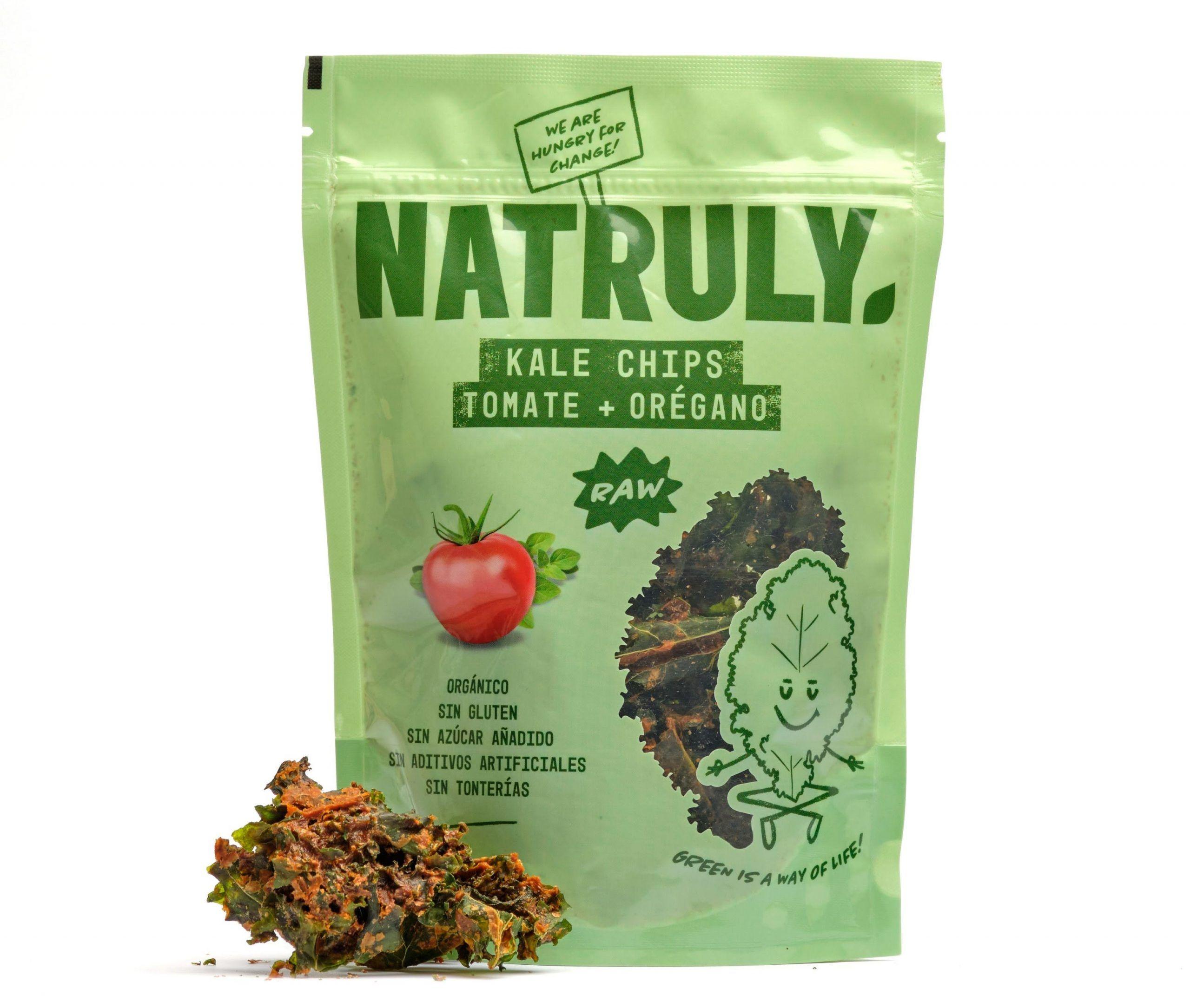 Natruly refuerza su oferta de snacks saludables con los nuevos Kale Chips orgánicos