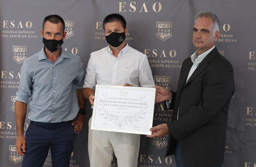 Martí Roca Ecològic recibe el primer premio al mejor Aceite de Oliva Virgen Extra Ecológico de la Comunitat Valenciana